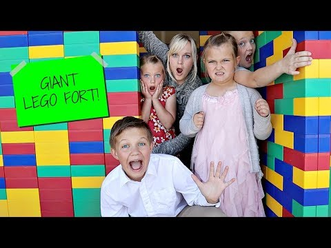 GIANT LEGO FORT! The Movie