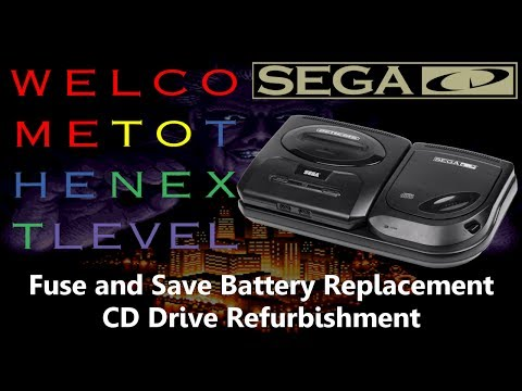 Tech Repair: Sega CD Fuse and Battery Replacement, CD Drive Refurb