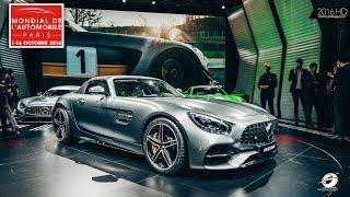 """""""فيديو"""" شاهد لحظة الكشف عن مرسيدس بنز 2016 Mercedes-Benz في معرض باريس الدولي"""