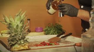 Preparación de un sorbete en una plancha helada