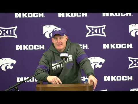 Kansas State Wildcats: Chris Klieman Press Conference   K-State 27, Iowa State 17 (Nov. 30, 2019)