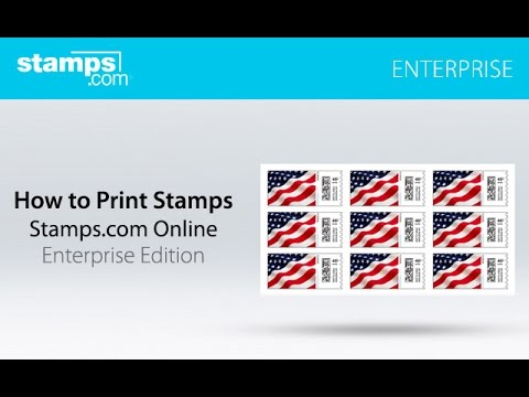 Stamps com Enterprise: How to Print Stamps