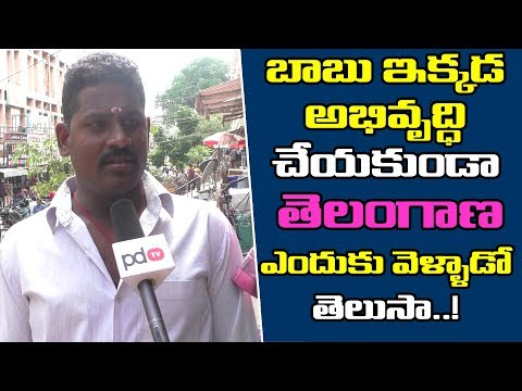 2019 AP Elections | Vijayawada Public Comments On Chandrababu | Public Talk | PDTV News