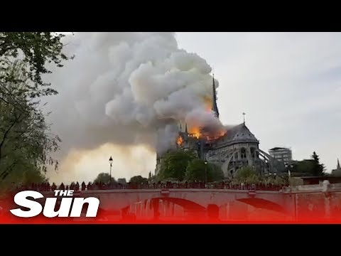 Notre Dame fire – Massive blaze sees flames and thick smoke billow from Paris cathedral