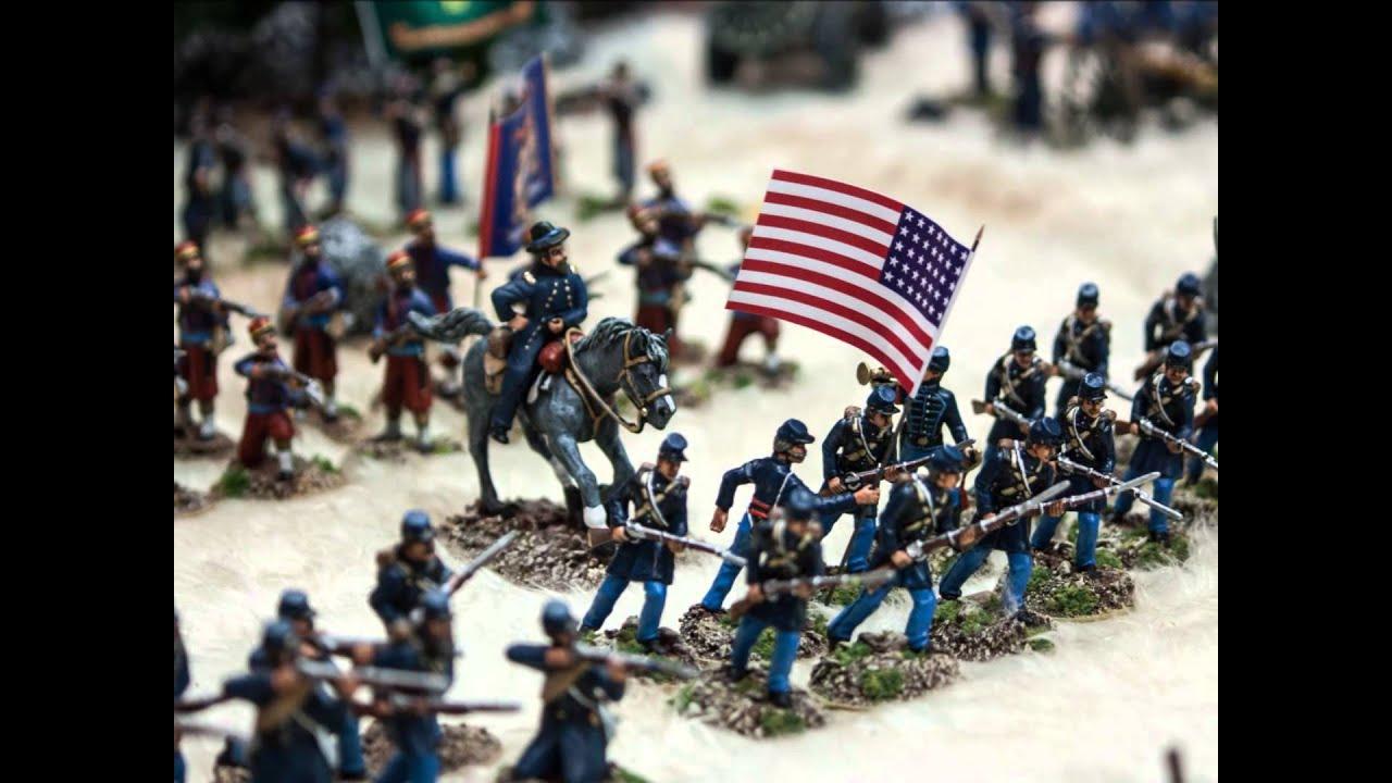 American Civil War Miniature Wargame In 54mm