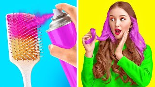 COOL HAIR IDEAS AND HACKS || Awesome Girly Tips To Look Gorgeous In Any Situation