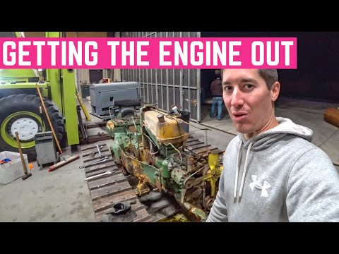 Pulling The Trashed ENGINE Out Of My John Deere 420C CRAWLER
