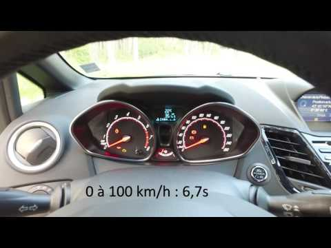 New Ford Fiesta ST200 acceleration : 0-180 km/h