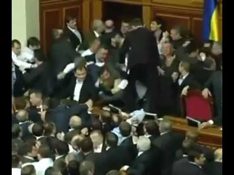 Драка в Верховной Раде.Battle of the Verkhovna Rada of Ukraine.