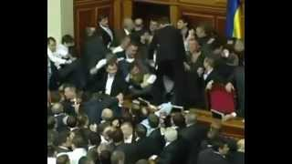Драка в Верховной Раде.Battle of the Verkhovna Rada of Ukraine.
