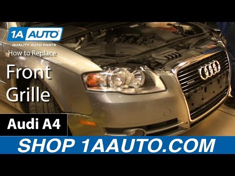 How To Install Replace Broken Front Grille 2005-09 Audi A4