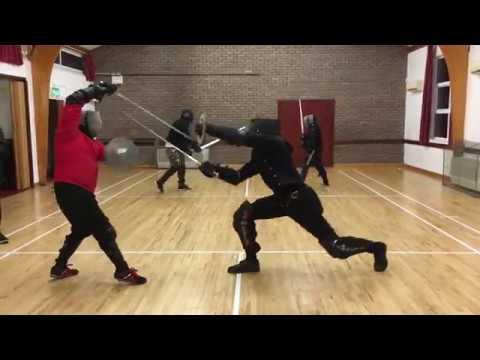 Sidesword & Buckler Sparring - Jordan (AOS) vs Nick (AHF)
