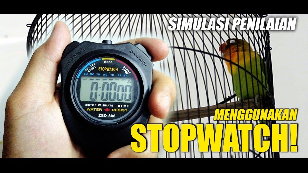Download SIMULASI PENILAIAN LOVE BIRD DENGAN STOPWATCH