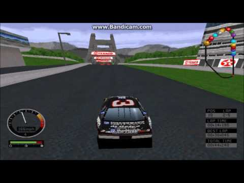 NASCAR Road Racing (PC) Gameplay (Dale Earnhardt) (Bridgeport Speedway) (5 Laps)