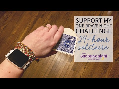 One Brave Night Challenge: 24-Hour Solitaire