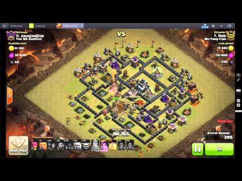 Clash of Clans 3 star attack Stoned Goho Quake Dragon Flower Variant 4 quakes