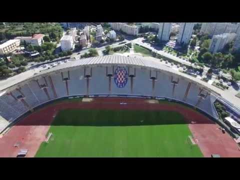 Drone Flight over Stadion Poljud in Split, Croatia