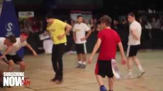 Bars and Melody - Playing Basketball and Meeting Fans @ Soccer Six