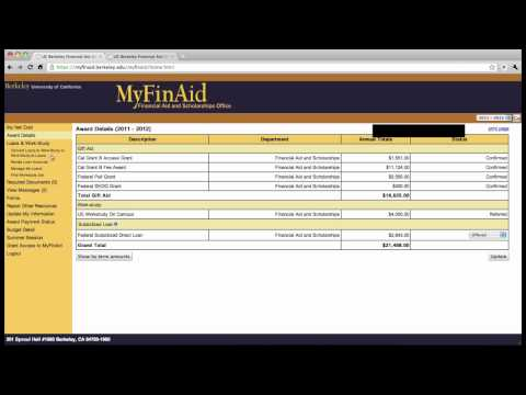 MyFinAid Tutorial