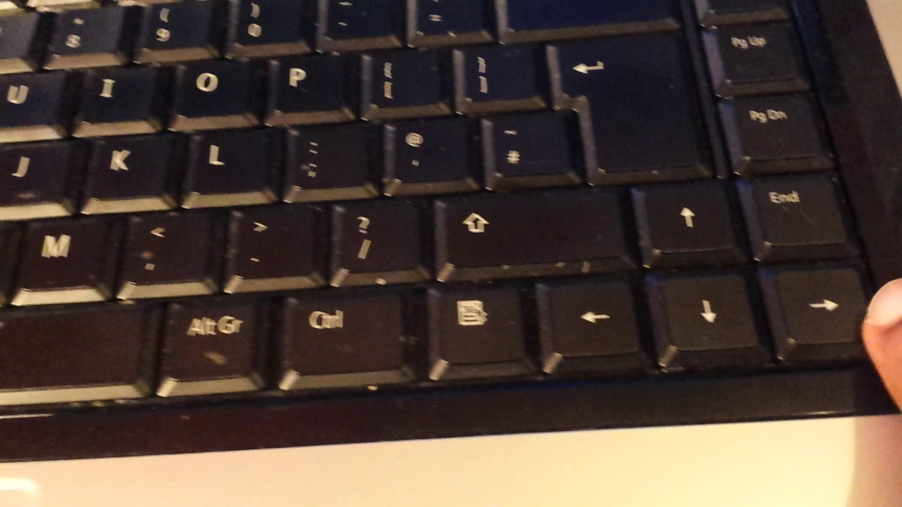 turn laptop off with keyboard