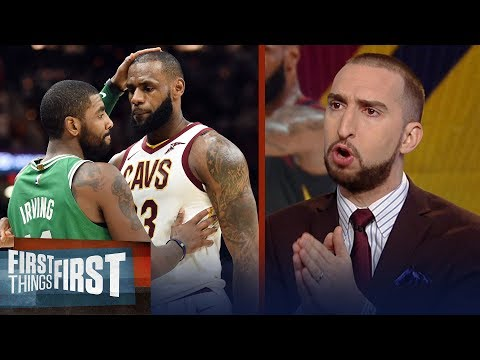 Nick Wright reacts to LeBron's revamped Cavs dominating Kyrie's Celtics | FIRST THINGS FIRST