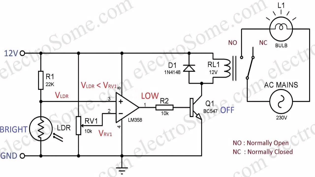 Ldr Control Switch Circuit Diagram - All Diagram Schematics