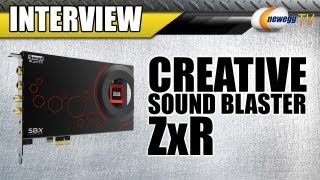 Newegg TV: Creative Sound Blaster ZXR Interview