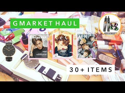 🌿 Giant Gmarket Haul | EXO Magazines, K-Beauty, Stationery 🌿