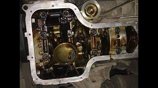 Как REANIMATOR отмывает двигатель, снимаем поддон после раскоксовки Toyota