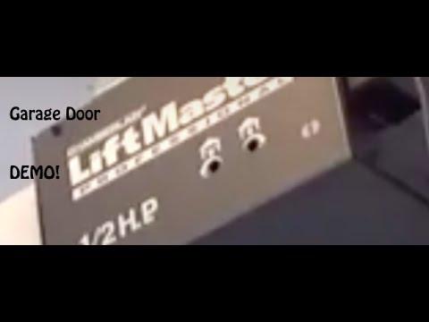 Liftmaster Professional 1 2 Hp Garage Door Demonstration Youtube