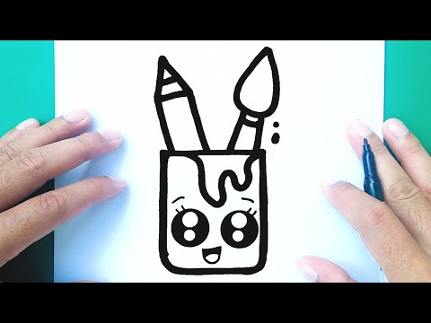 HOW TO DRAW A CUTE ART MATERIAL, DRAW CUTE THINGS