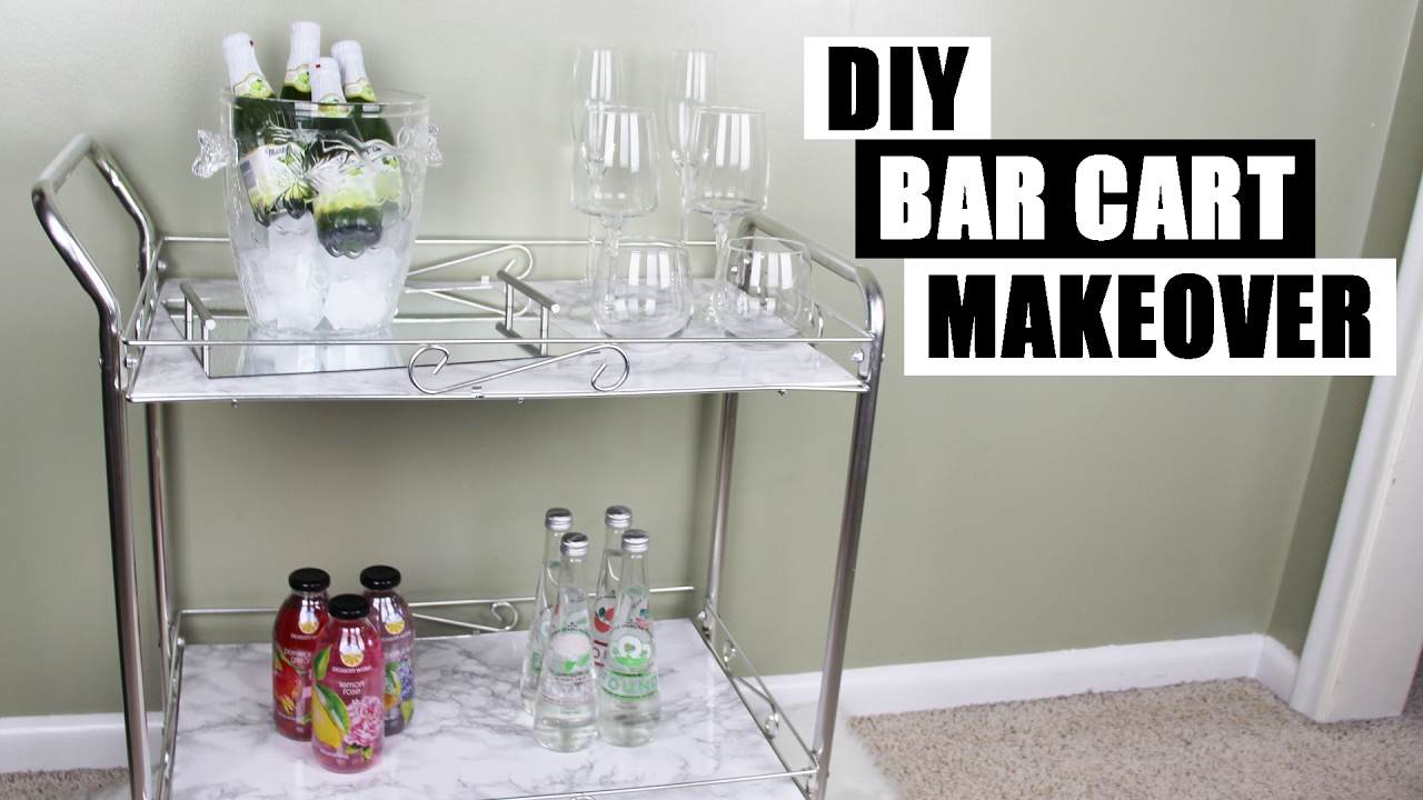 Diy Bar Cart Makeover How To Style A Bar Cart Diy Faux