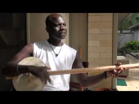 Daniel Jatta Plays an Akonting Tune Written  his Father