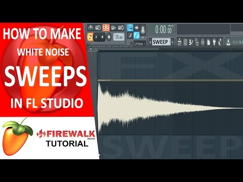 How to make white noise sweeps in FL Studio