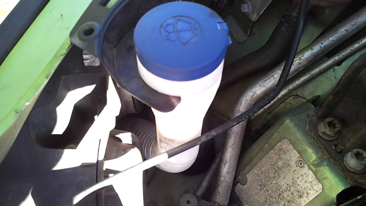 Where Is The Windscreen Washer Fluid Reservoir In A