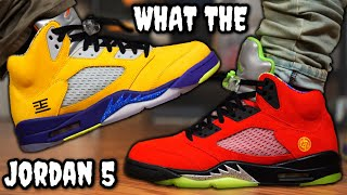 WATCH BEFORE YOU BUY! AIR JORDAN 5 WHAT THE ON FEET REVIEW! Worth Paying Resell?