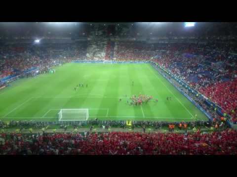 Wales v Portugal Post Game Applause EURO 2016