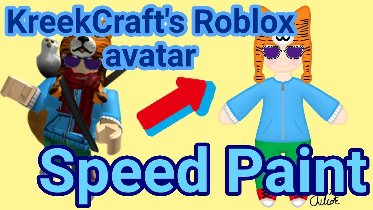Drawing Roblox Avatars Kreekcraft Speed Paint Ibis Paint X - kreekcraft roblox character