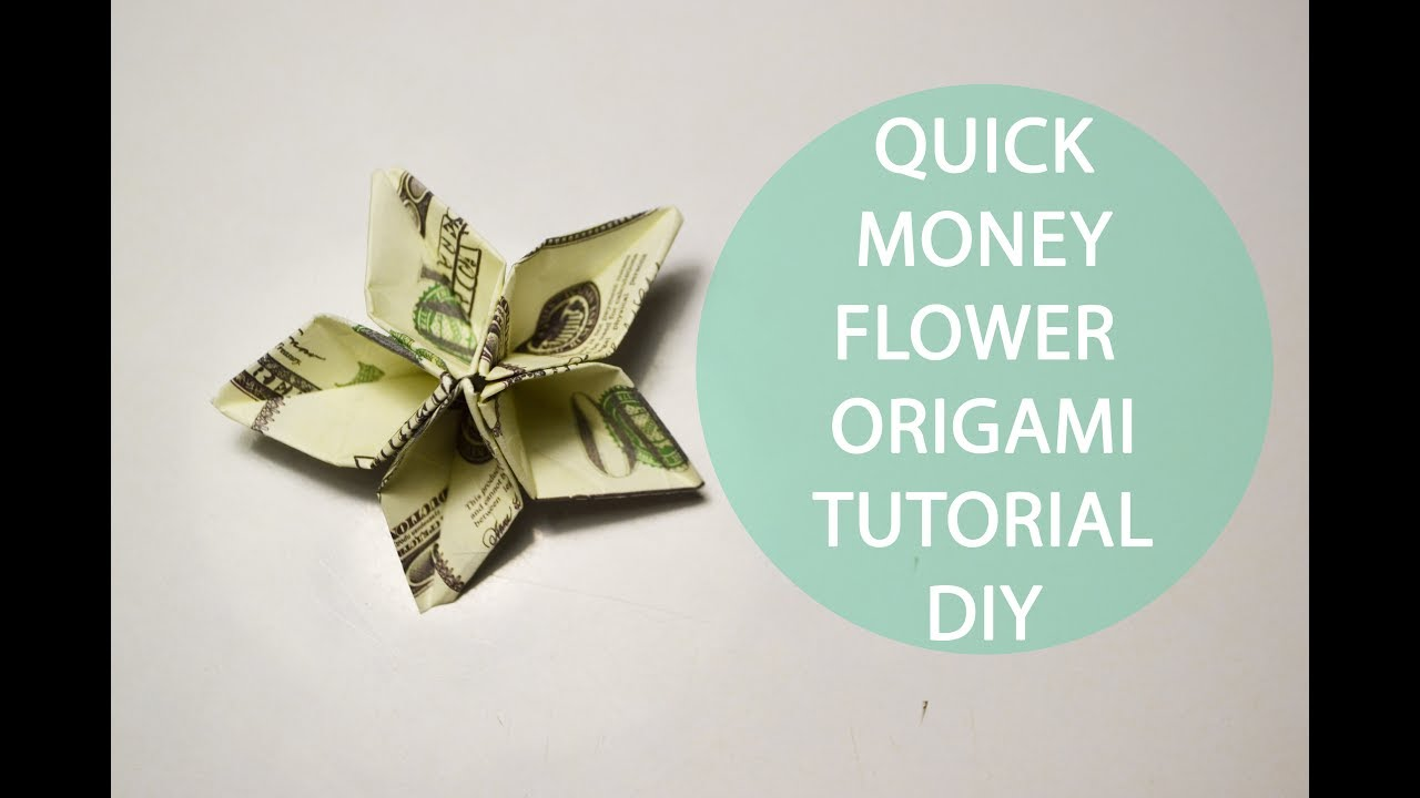 Quick Money Flower Origami Dollar Tutorial Diy Paper Decoration