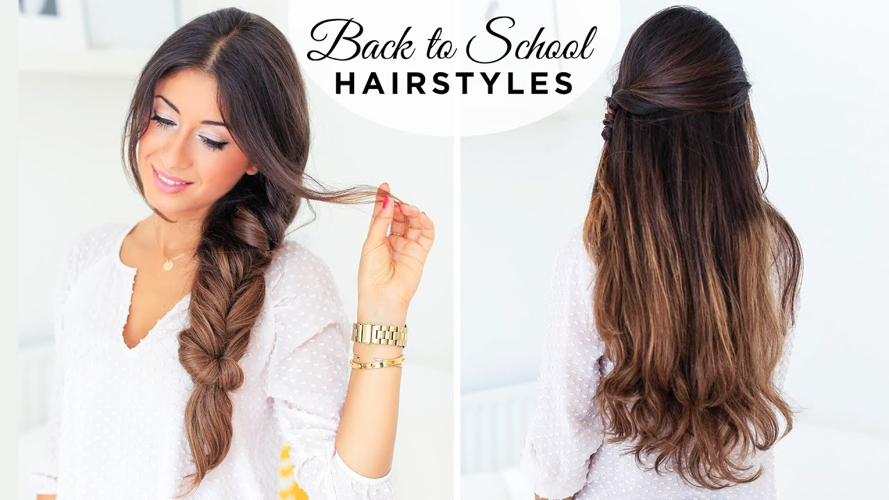 Back To School Hairstyles ft Fluffy Braid