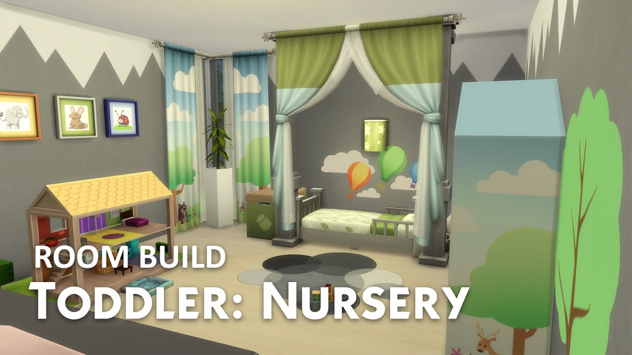 The Sims 4 Room Build Toddler Nursery Youtube