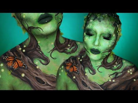 Earth Elemental Body Paint Makeup Tutorial