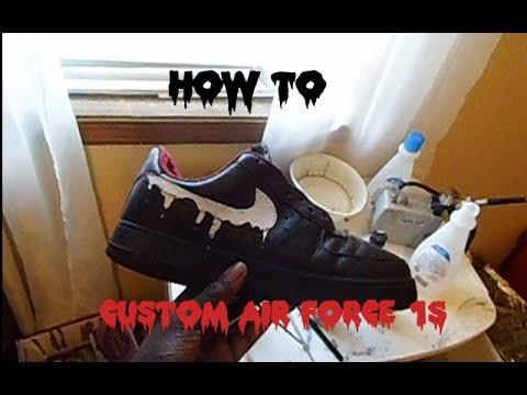 c39a8566e96d Nike air force one custom! - YouTube