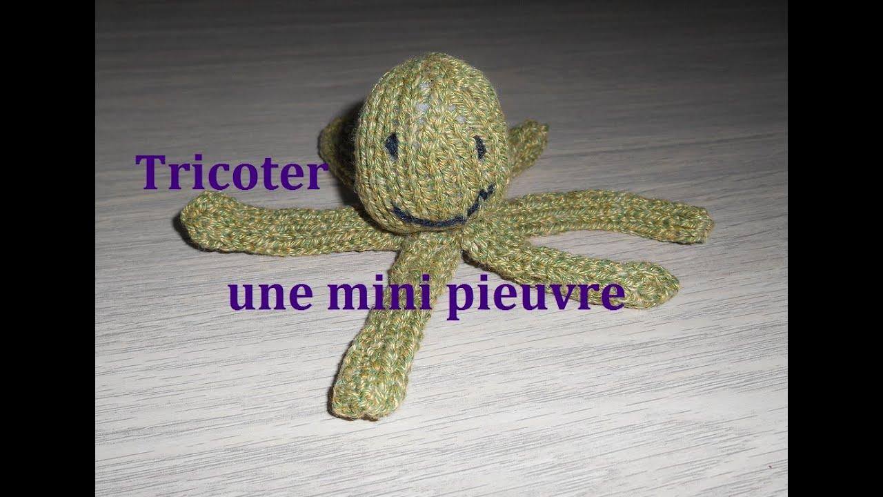 Tricoter une petite pieuvre doudou simple et facile doudou - Creer un doudou pour bebe ...