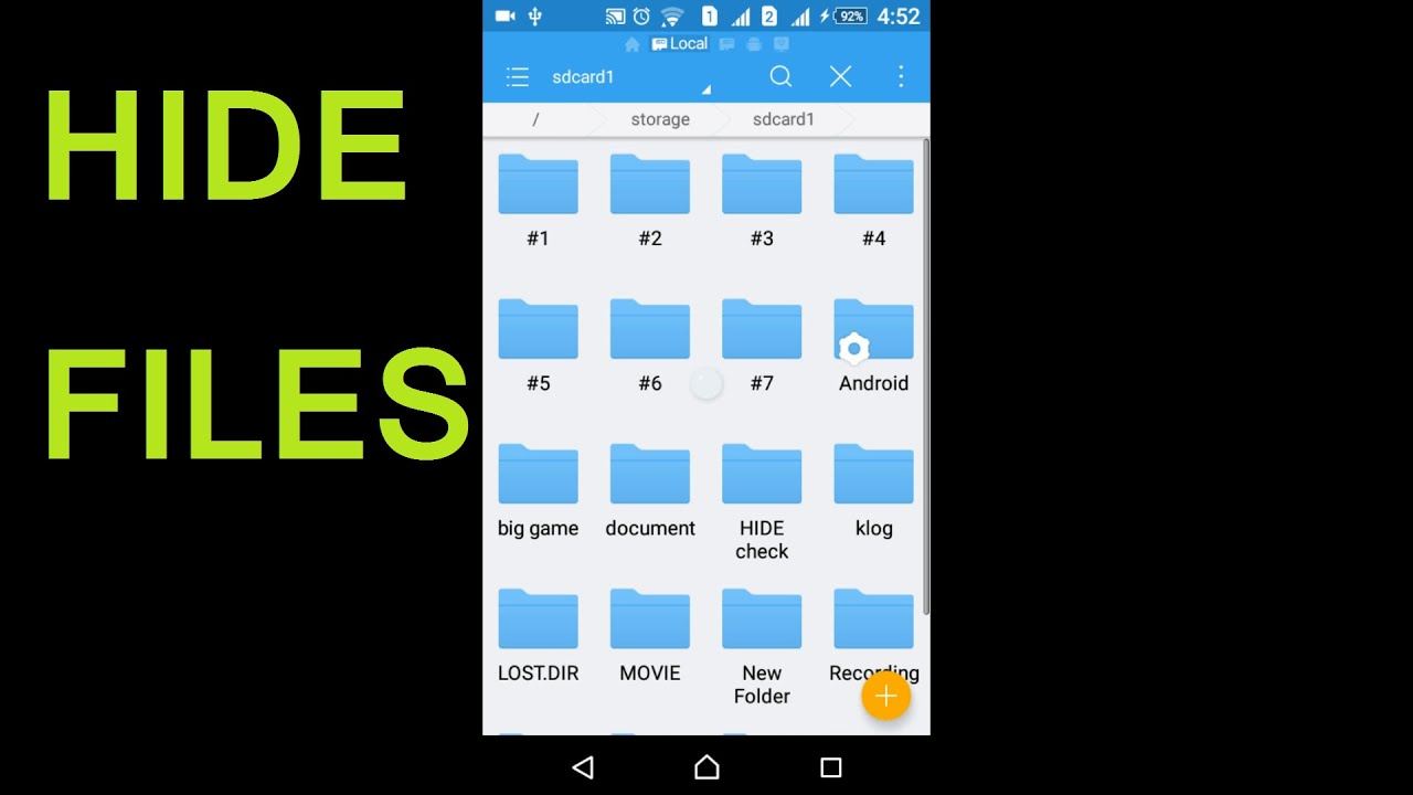See hidden files android