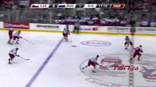 Boston Bruins prospect David Pastrnak's 3 asissts vs. Russia