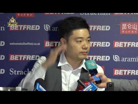 Ding Junhui has beaten Ronnie O'Sullivan to reach the Semi Finals