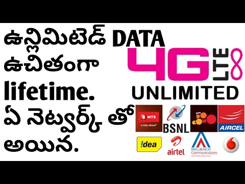 Get lifetime unlimited DATA For Free On Any Network | Any SIM | Any Country || Telugu World IN