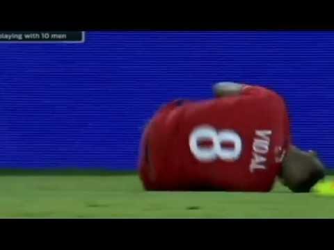 Marcos Rojo Controversial Red Card Argentina vs Chile  2016 Copa America