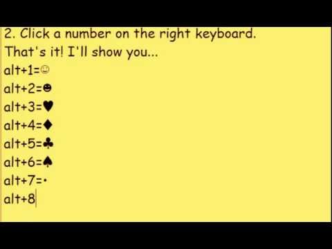 ☺ ♥ How To Do Symbols On Keyboard (EASY) ♪♫